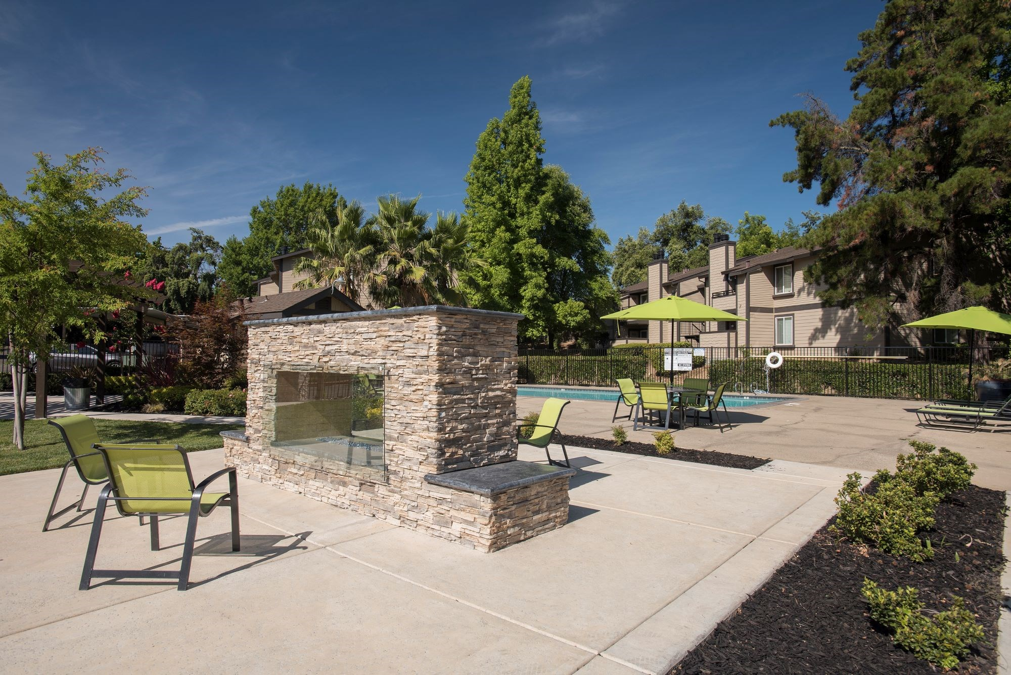 Madison Hills Pool Area Fire Place