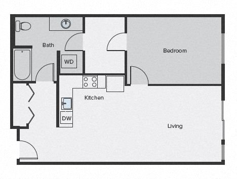 Sparc Floor Plan 1x1 683sf
