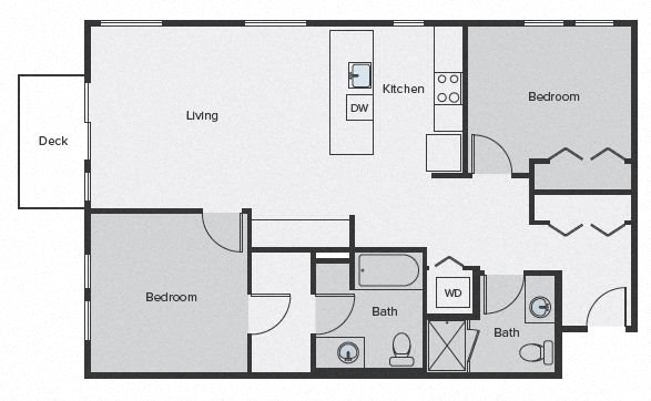 Sparc Floor Plan 2x2 1142sf