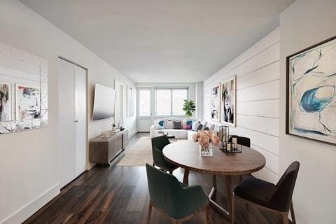 Open floor plan concept