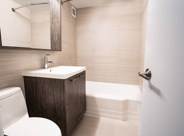 Parker Towers renovated bathroom