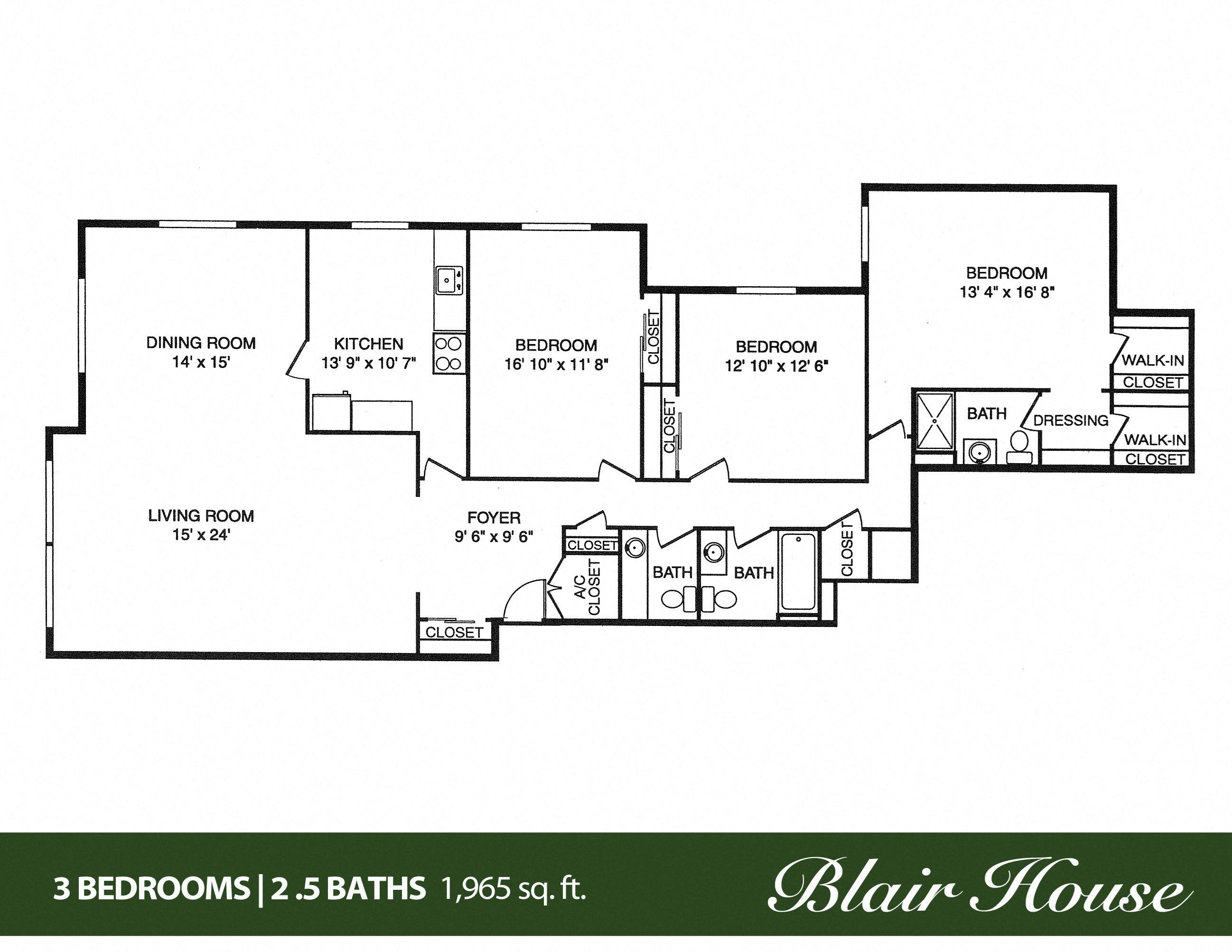 Blair House Apartments Ebrochure