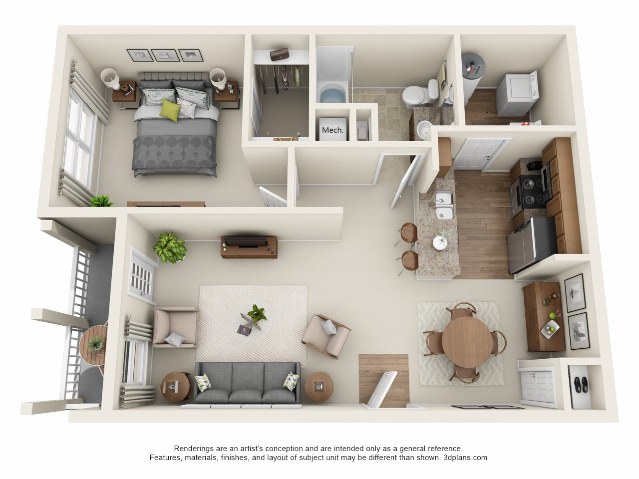 Floor Plans of The Ravines at Westar in Westerville, OH