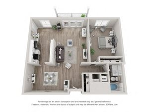 A3 Floor Plan at Valley Lo Towers, Illinois, 60025