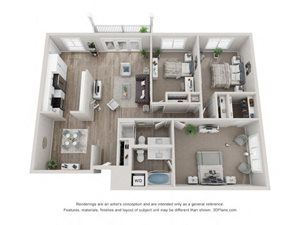 C2 Floor Plan at Valley Lo Towers, Glenview, Illinois