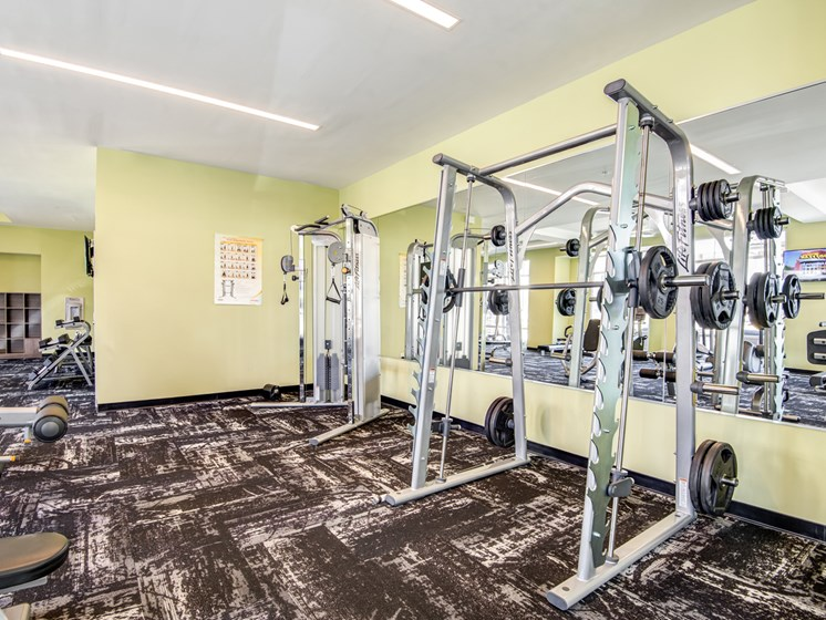 High-Tech Fitness Center at The Flats at Ballantyne Apartments, North Carolina, 28277