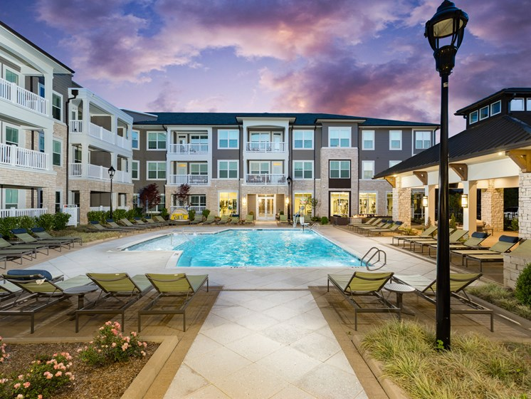 Resort-Style Pool at The Flats at Ballantyne Apartments, Charlotte
