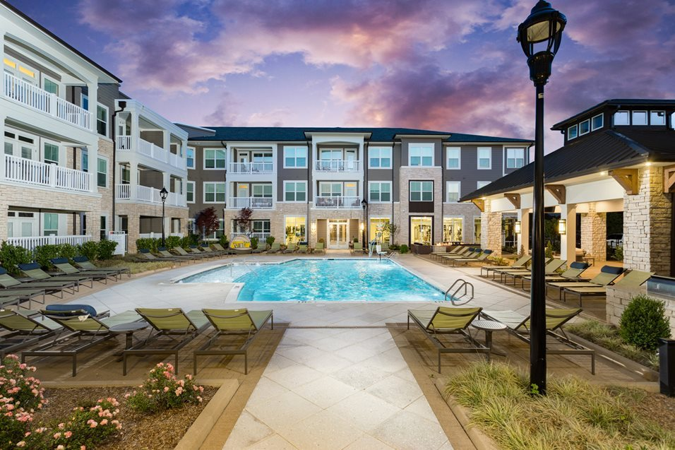 Resort Inspired Pool at The Flats at Ballantyne Apartments, Charlotte, NC, 28277