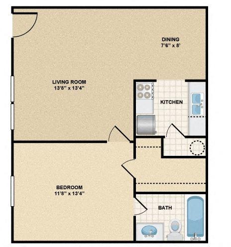 1 Bedroom/1 Bathroom