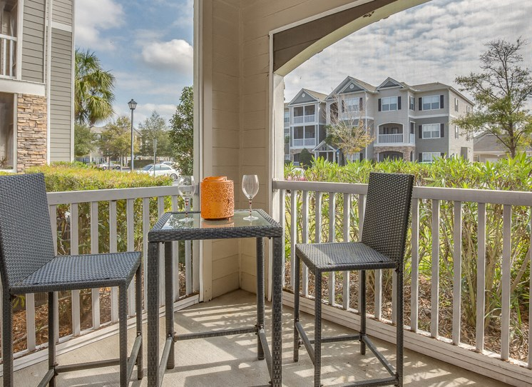Spacious Lanais Porch with Outside Storage (In Select Apartment Homes) at Reserve Bartram Springs, Jacksonville, FL, 32258