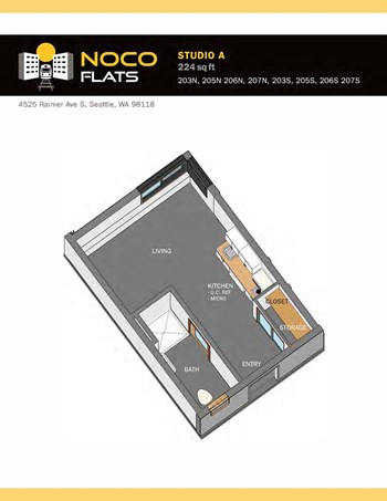 4525 & 4527 Rainier Ave S Studio Apartment for Rent Photo Gallery 1
