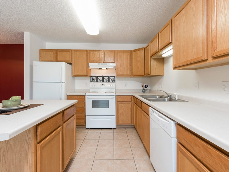 Sierra Ridge Apartments | 2 Bedroom-Plan A-Kitchen