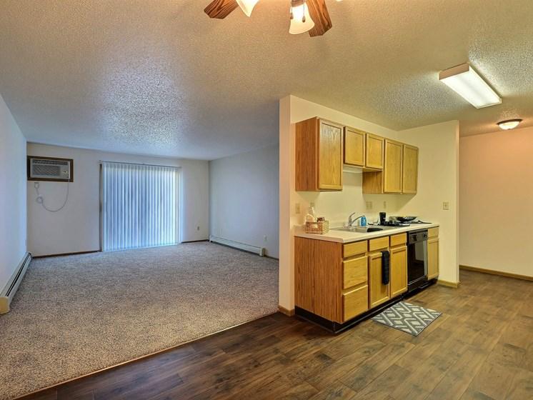 Chestnut Ridge Apartments | 2 Bdrm - Kitchen-Living Rm