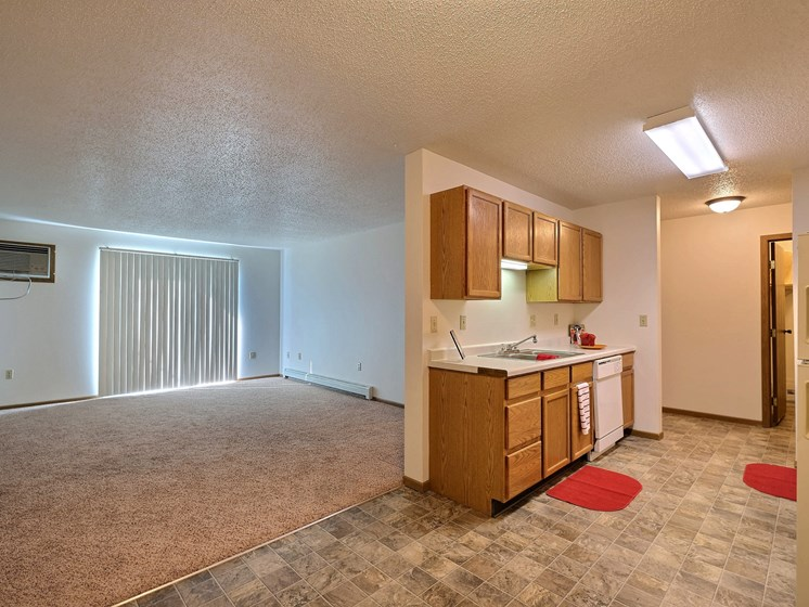 Country Edge Apartments | 2 Bdrm - Kitchen-Living Rm