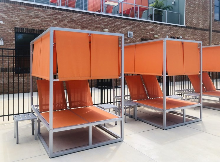Private Two Person Poolside Cabanas