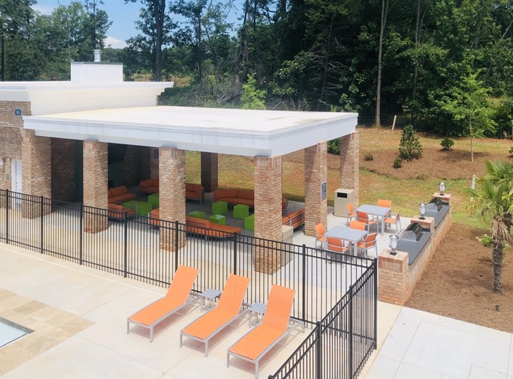 Outdoor Grilling Pavilion with Fireplace and Gas Grills