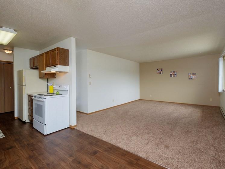 Sargent Apartments | 2 Bedroom | Kitchen | Living Room