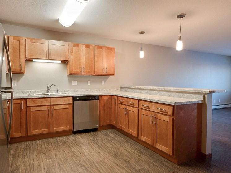 Urban Plains Apartments | 1 Bdrm-Plan B-Kitchen