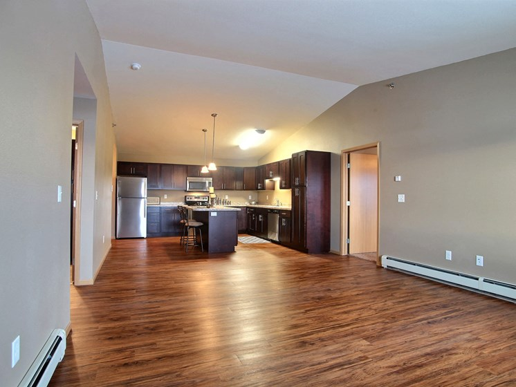 Urban Plains Apartments | 2 Bdrm-Plan A-Living Rm