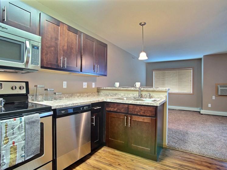 Urban Plains Apartments | Efficiency-Plan A-Kitchen