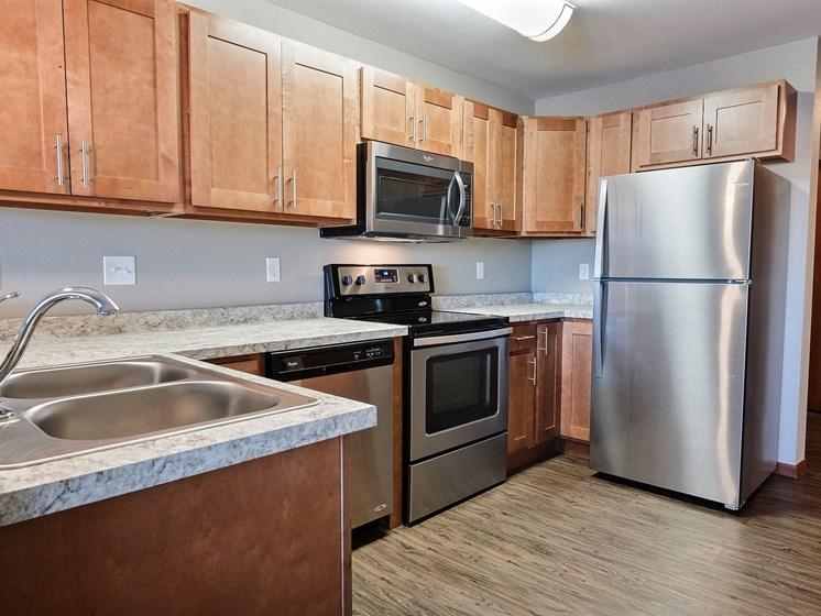Urban Plains Apartments | Efficiency-Plan D-Kitchen