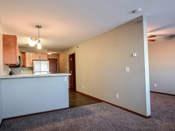 Urban Plains Apartments | Efficiency-Plan D-Living Space