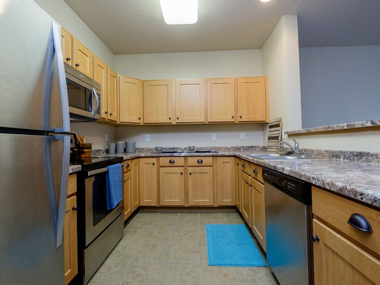 West Lake Apartments | 1 Bdrm - Kitchen-Plan C
