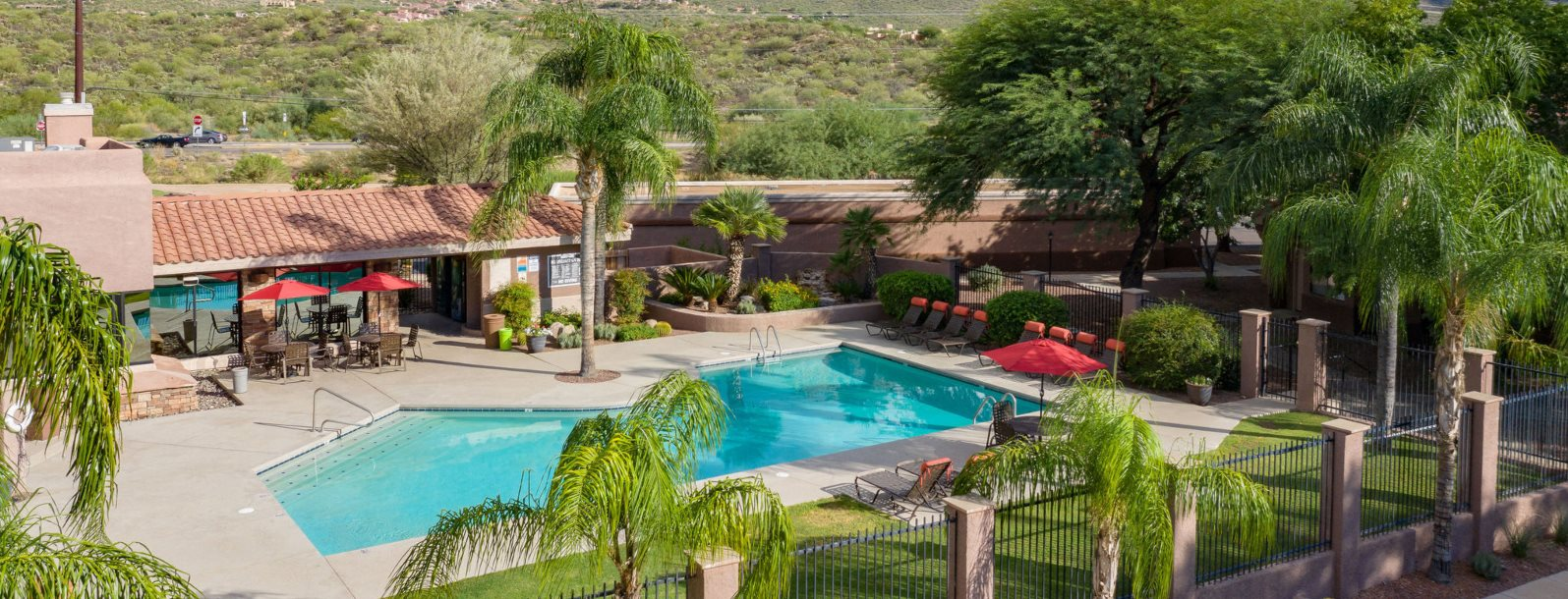 Pool & pool patio at Rock Ridge in Oro Valley, AZ