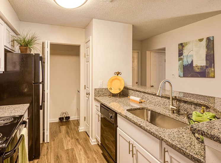 Kitchen at Latitudes Apartments in Virginia Beach