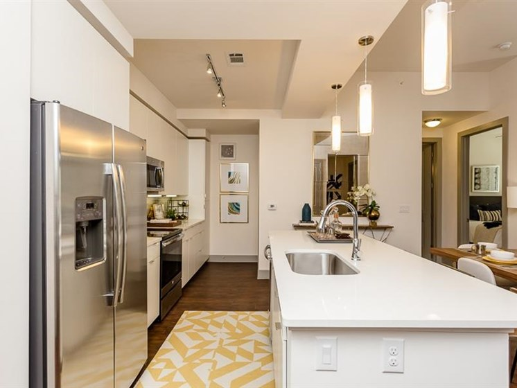 Gourmet chef kitchen in two bedroom apartment for rent