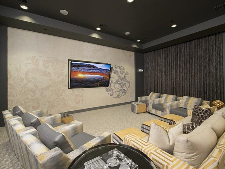 Watch a game in the theater at The Mark apartments