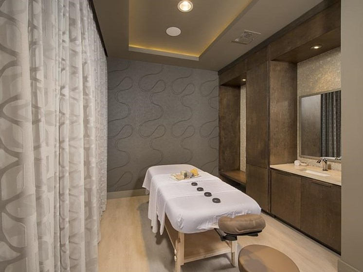 Private treatment room in Spa at The Mark