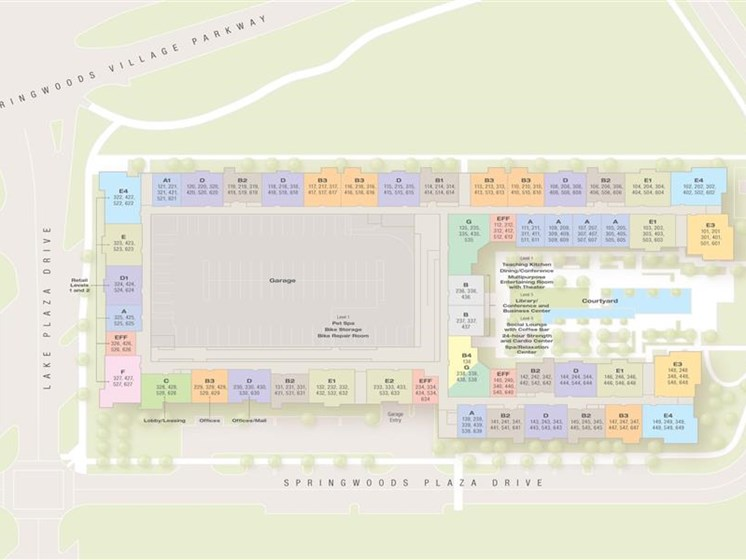Apartment property map