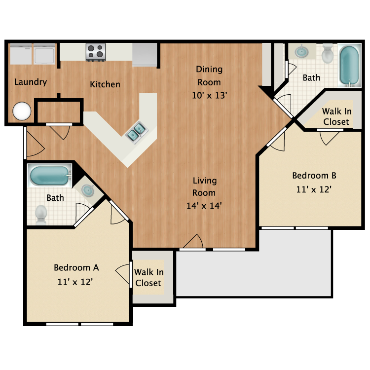 Rolling Woods 2 Bed 2 Bath