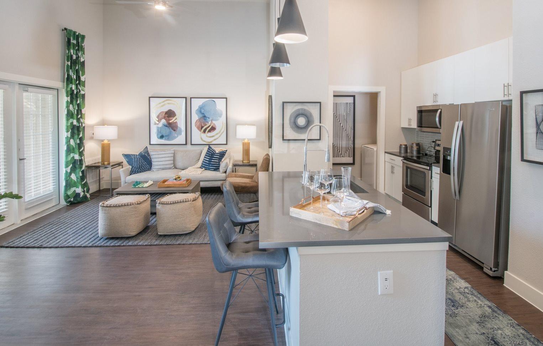 kitchen area in san antonio apartments