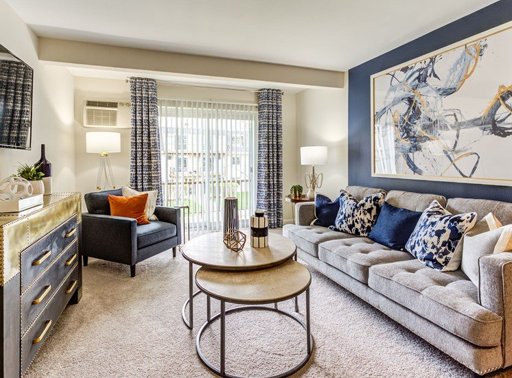 Living Room at Orion ParkView, Mount Prospect, IL, 60056