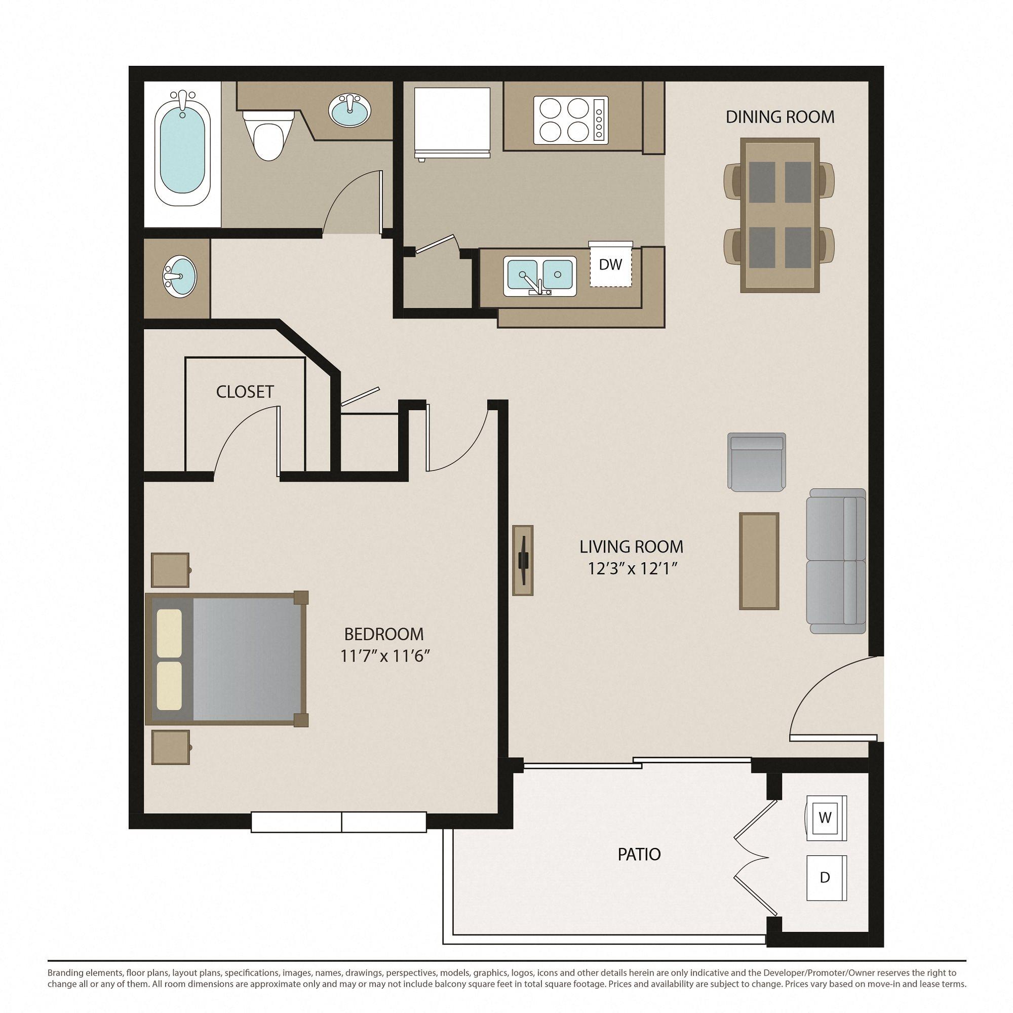 2 Bedroom Apartment Floor Plans: 1 & 2 Bedroom Apartments In Chino Hills, CA