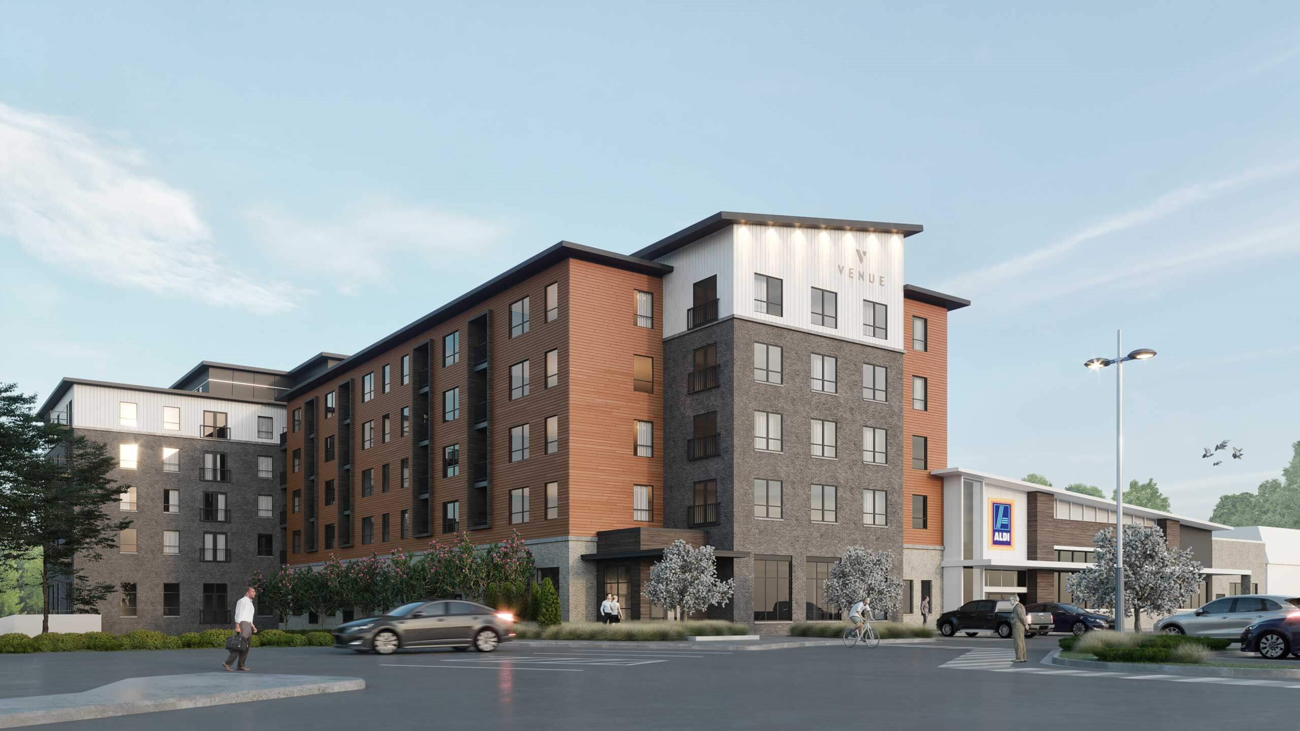 Rendering of Exterior of Venue Apartments in Chanhassen