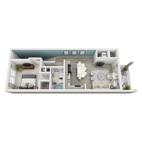 1 Bed 1 Bath Ambiance Floor Plan at Altis Shingle Creek, Kissimmee, 34746