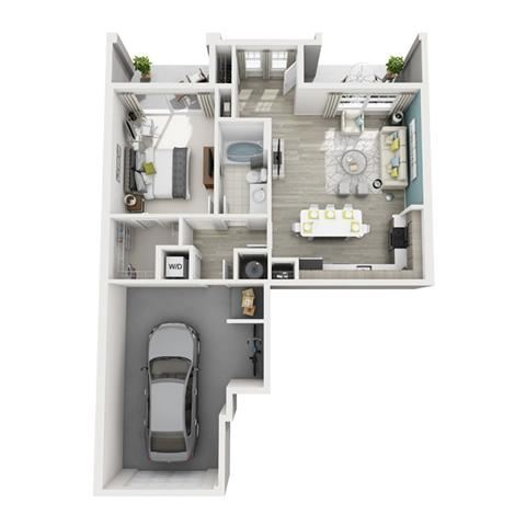 1 Bed 1 Bath Aspire Floor Plan at Altis Shingle Creek, Kissimmee