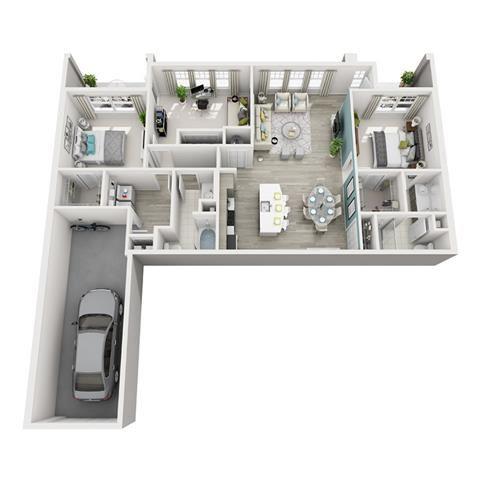 3 Bed 2 Bath Excite Rhapsody Floor Plan at Altis Shingle Creek, Florida
