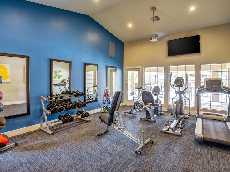updated fitness center