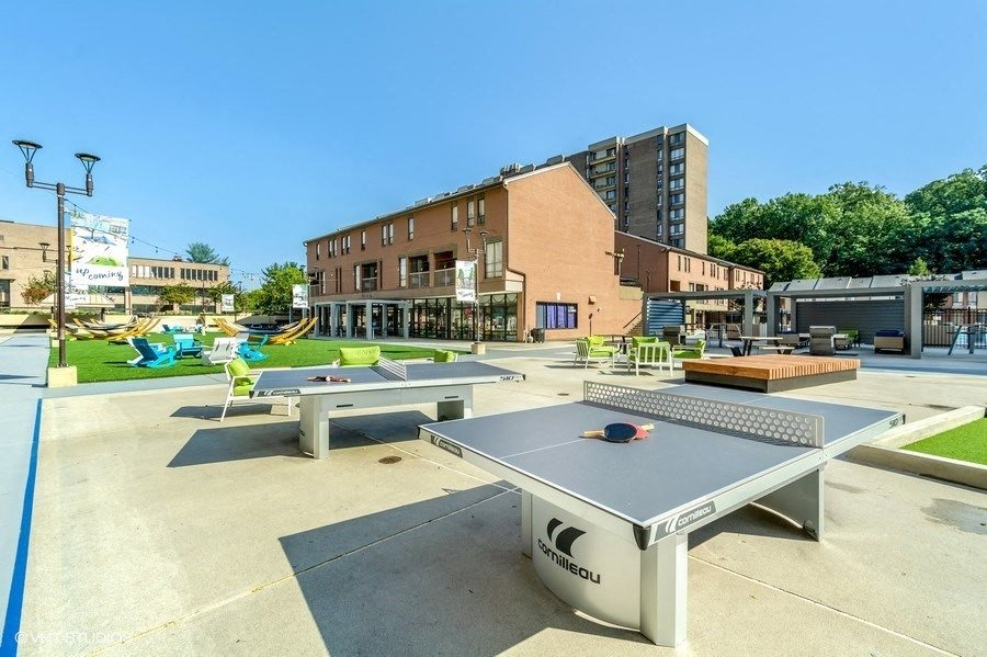 Lounge Turf Area with Ping Pong Tables at Trillium Apartments in Fairfax, VA