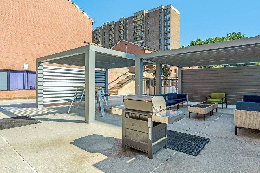 Enjoy the Fire Pit While You BBQ on Our Deluxe Gas Grills at Trillium Apartments in Fairfax, VA
