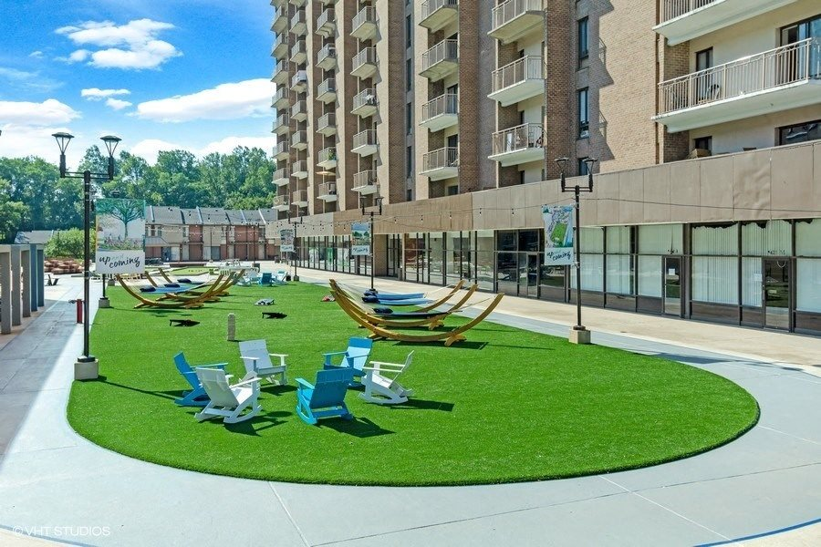 Outside Lounge Turf Area for Residents at Trillium Apartments in Fairfax, VA