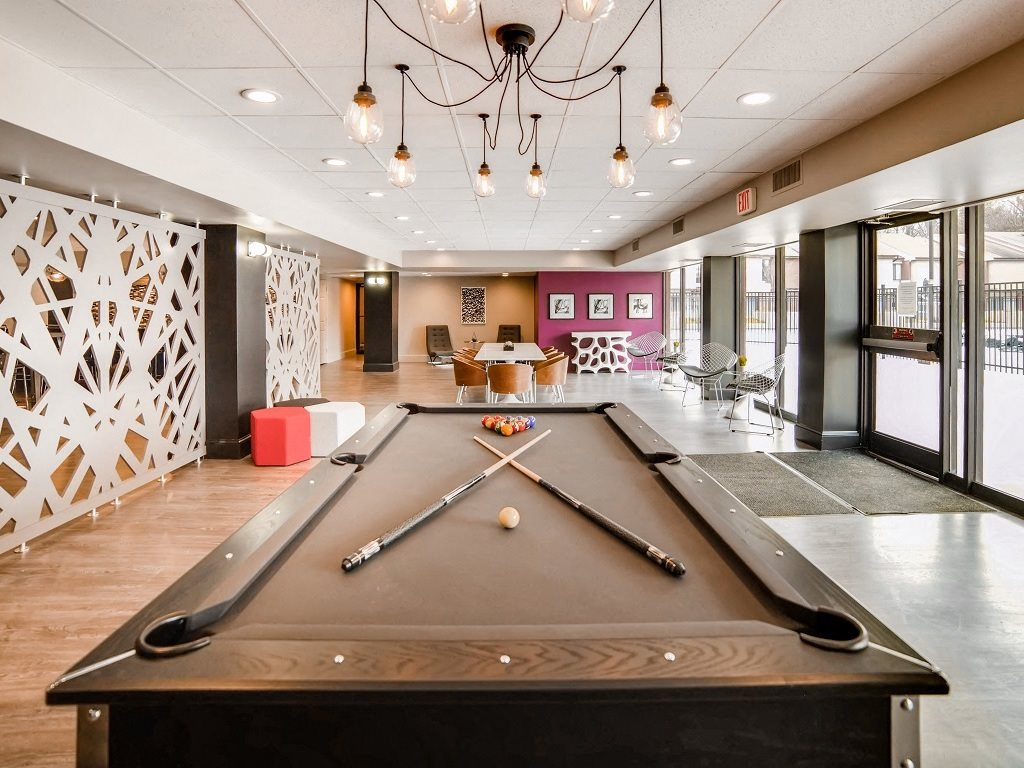 Stunning pool table in the modern resident lounge