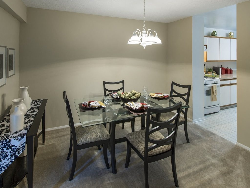 CLASSIC Dining Area Conveniently Beside the Kitchen at Trillium Apartments in Fairfax, VA