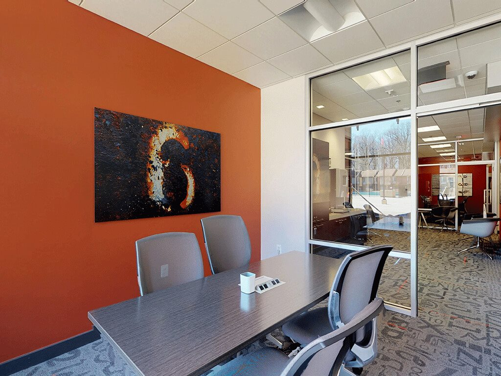 Business Center with Work Stations at Trillium Apartments - Rental Apartments in Fairfax, VA
