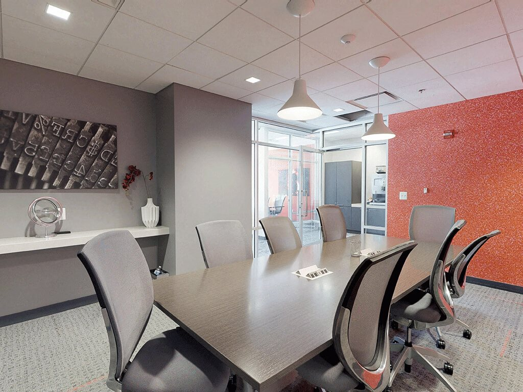 Bright and thoughtful conference room
