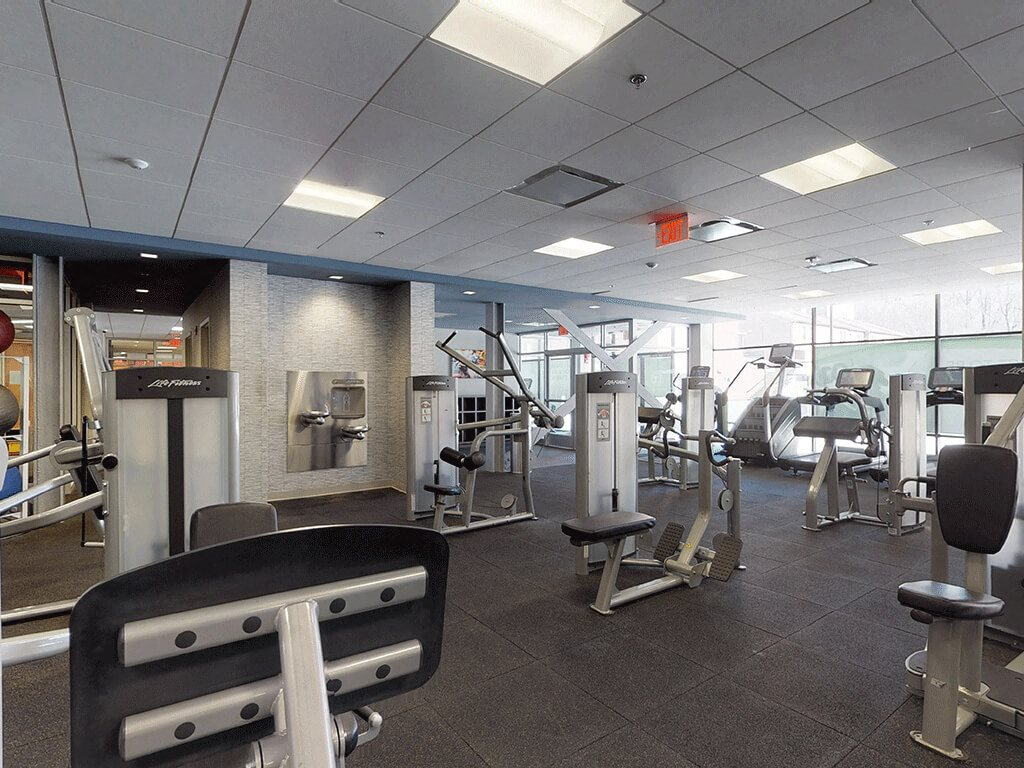 Large Gym Space with a Variety of Exercise Equipment at Trillium Apartments in Fairfax, VA
